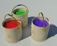 3d paint bucket Royalty Free Stock Photo