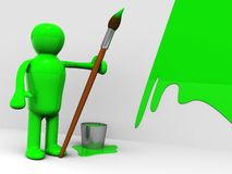 3d painter Stock Photography