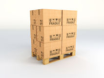 3d pallets Royalty Free Stock Photo