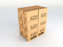 3d pallets Stock Photo