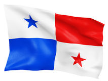 3D Panama flag Royalty Free Stock Photography