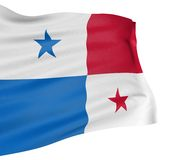 3D Panama flag Royalty Free Stock Photography