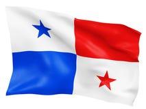 3D Panama Markierungsfahne Lizenzfreie Stockfotografie