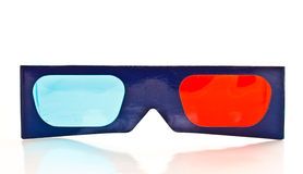 3D paper glasses Royalty Free Stock Image