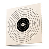 3d paper rifle target Royalty Free Stock Photos