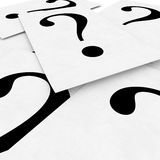 3d paper sheet with question mark Royalty Free Stock Image