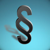 3D paragraph symbol Royalty Free Stock Photos