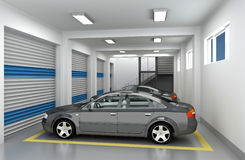 3D Parking Garage Royalty Free Stock Photography