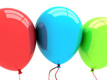 3D Party Balloons Stock Photos