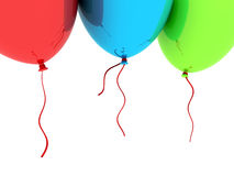 3D Party Balloons Stock Image