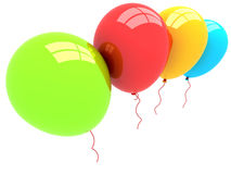3D Party Balloons. 3D rendered party balloons isolated on white background Stock Photos