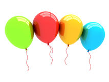 3D Party Balloons Stock Images