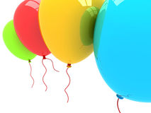 3D Party Balloons Royalty Free Stock Photo