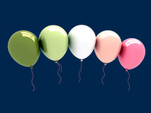 3D Party Balloons. 3D rendered party balloons with clipping path Stock Image