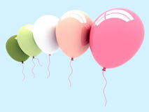 3D Party Balloons. Royalty Free Stock Photos