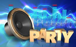 Free 3d Party Sign Loud Speaker Stock Photo - 99684100