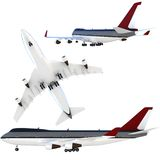 3d passanger plane collection Royalty Free Stock Images