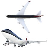 3d passanger plane collection Royalty Free Stock Image
