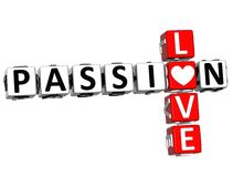 Free 3D Passion Love Crossword Text Stock Photography - 92013652