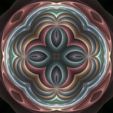 3d pastel fractal mandala. 3d abstract fractal image resembling a pastel mandala Stock Photos