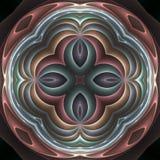 3d pastelkleurfractal mandala Stock Foto's