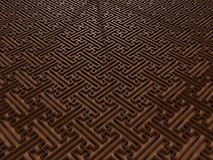 3D Pattern background. A 3D rendered abstract background in wood material Royalty Free Stock Photo