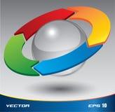 3D PDCA Vektor Stockbild