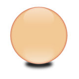 3d peach colored sphere. Eye catching glossy orb for your e-business or website Royalty Free Stock Photos