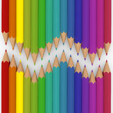 3d pencil colorful Stock Photography