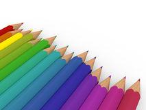 3d pencil colorful Royalty Free Stock Photo