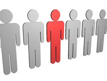 3D PEOPLE Royalty Free Stock Photos