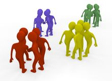 3d people. Teams in a circle Royalty Free Illustration