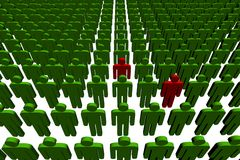 3d people. Outsiders - illustration on white background Stock Images