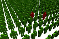 3d people. Outsiders - illustration on white background Royalty Free Stock Images