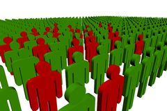 3d people. Outsiders - isolated illustration - team Stock Photo