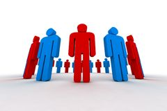 3d people. People in circle - outsiders - 3d illustration Royalty Free Stock Photography
