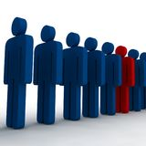 3d people. Outsiders - isolated illustration - team Stock Photos