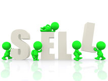 3D people around the word sell Stock Photo