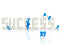 3D people around the word success Royalty Free Stock Photography