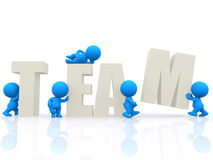 3D people around the word team Royalty Free Stock Image