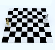 3d people in chess board Stock Image