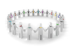 3d people circle Royalty Free Stock Photo