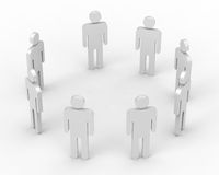 3d people in  circle Royalty Free Stock Photo
