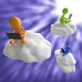 3D People Cloud Computing Royalty Free Stock Image