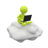 3D People Cloud Computing Stock Image