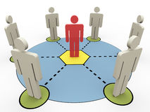 3d people communication Royalty Free Stock Images