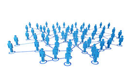 3d people and connection Stock Image