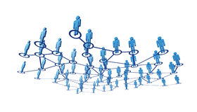 3d people and connection Stock Photo