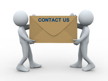 3d people contact us envelope Royalty Free Stock Photos