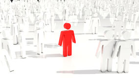 3D people crowd Royalty Free Stock Photo